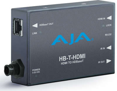 AJA HB-T-HDMI 1:1 HDBaseT HDMI / IR / RS-232 over Twisted Pair Transmitter product image