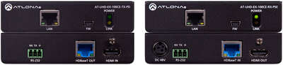 Atlona AT-100CER-PoE-EXT 1:1 4K HDMI over HDBaseT/Ethernet/PoE Transmitter and Receiver product image