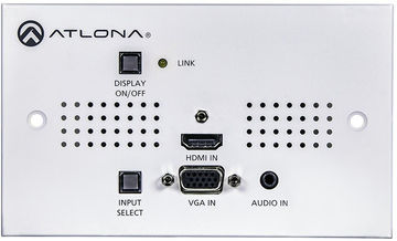 Atlona AT-HDVS-150-TX-WP-UK 2:1 HDMI/VGA over HDBaseT Lite Wall Plate Transmitter and Switcher product image