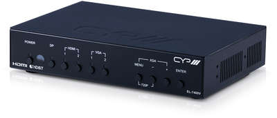 CYP EL-7400V 5:1*2 HDMI / VGA / Display Port Presentation Switcher & Scaler with HDMI & HDBaseT Outputs product image