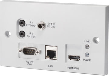 CYP PU-607BDWP-RX 1:1 HDMI over Single CAT5e/6/7 HDBaseT - Bi-Directional PoE Wallplate Receiver product image