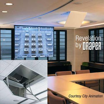"Draper 300020 ""Revelation B"" mirror projector lift product image"