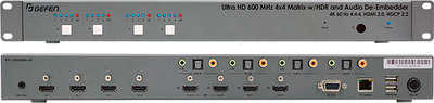Gefen EXT-UHD600A-44 4x4 4K HDMI matrix switcher with Ultra HDMI support product image