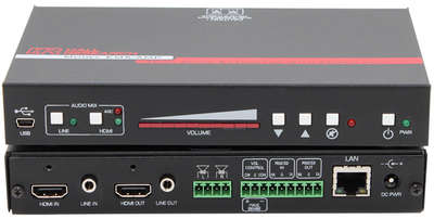 Hall Research EMX-I-AMP-E 4K HDMI Audio Extractor with Audio Amplifier, RS-232 and IP Control product image