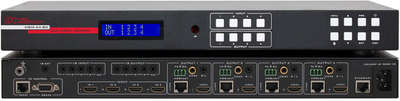 Hall Research HSM-44-BX-E 4x4 4K HDMI to HDMI and HDBaseT Matrix Switcher product image