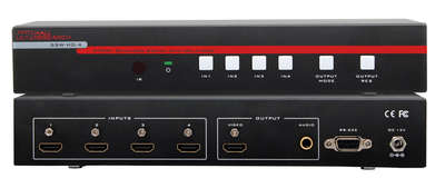 Hall Research SSW-HD-4 4:1 Input HDMI Seamless Switch with Real-time Multiview Modes product image