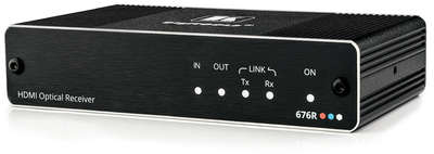 Kramer 676R 1:1 4K60 4:4:4 HDMI 2.0 and RS-232 Receiver over Ultra-Reach MM/SM Fibre Optic product image