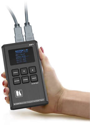 Kramer 861 18G 4K HDR Pocket Signal Generator, Analyzer and Cable Tester product image
