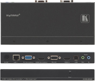 Kramer KDS-EN3 1:1 HDMI/VGA to H.264 Encoder, Recorder and Streamer product image