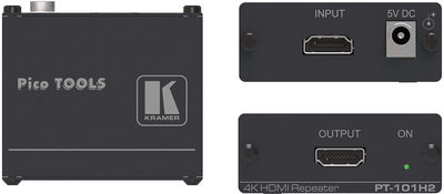 Kramer PT-101H2 1:1 4K HDMI 2.0 and HDCP 2.2 Repeater product image