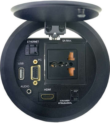 Kramer RTBUS-25xl Round Table Mount Multi Connection, 110mm cutout product image