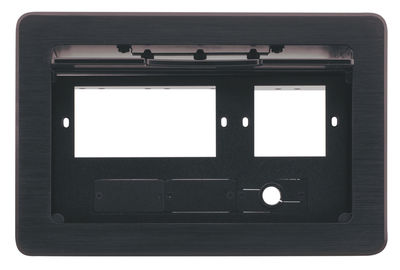 Kramer TBUS-10xl Architectural Table-Mount Interface - Tilt-Up Lid, 245x154mm cutout product image