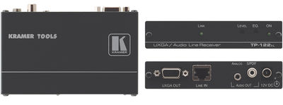 Kramer TP-122xl 1:1 Computer Graphics Video, & Stereo Audio extended range receiver product image