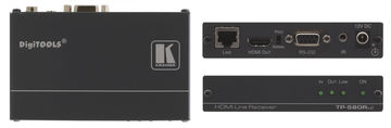 Kramer TP-580RXR 1:1 HDBaseT HDMI/RS-232/IR over extended range Twisted Pair Receiver product image