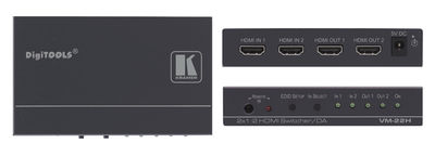 Kramer VM-22H 2x1:2 HDMI 1.4 Distribution amplifier product image