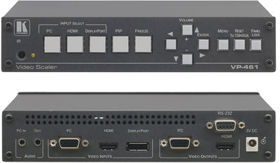 Kramer VP-461 3:1 HDMI / DisplayPort / VGA to HDMI / VGA presentation switcher scaler product image