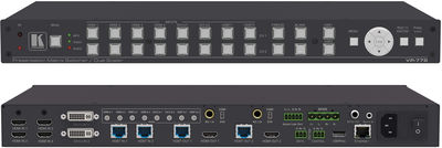 Kramer VP-778 8 input 4K ProScale Presentation Matrix Switcher/Dual Scaler product image