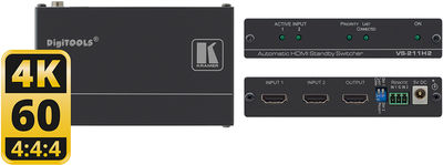 Kramer VS-211H2 2:1 Automatic 4K UHD HDMI Standby Switcher product image