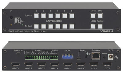 Kramer VS-62H 6x2 4K HDMI Matrix Switcher product image