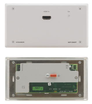 Kramer WP-580T 1:1 HDBaseT-Lite HDMI/IR/RS-232 Twisted Pair Transmitter wall plate product image