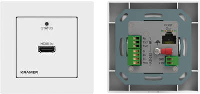 Kramer WP-789T 1:1 4K 60Hz HDMI HDBaseT Transmitter wall plate with RS-232 and IR product image