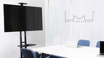"Multibrackets 2319 M Public Floorstand Basic 150 - Stand for video conferencing system - black - screen size: 32"" - 60"" product image"