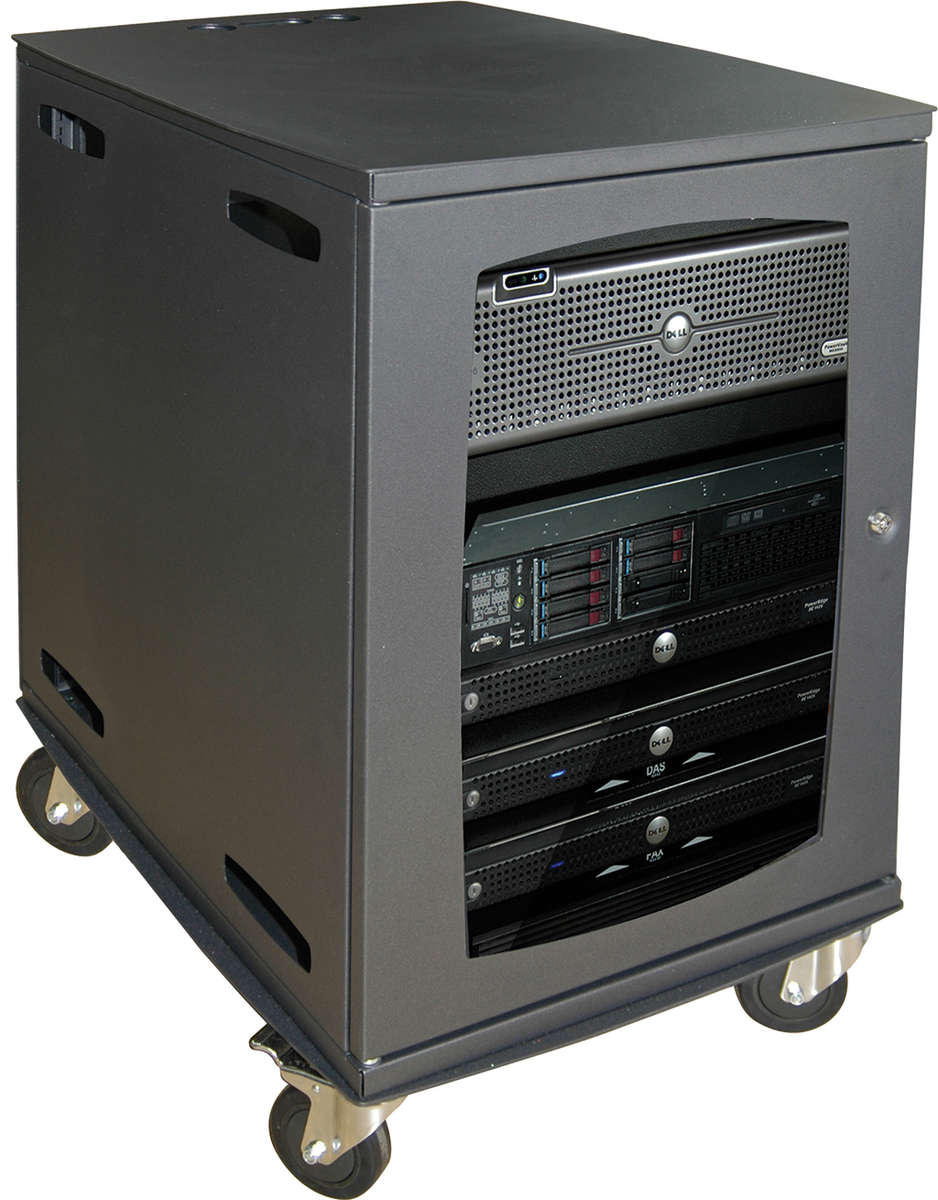 Unicol AVR7 Avecta square style extra deep free standing AV cabinet trolley product image