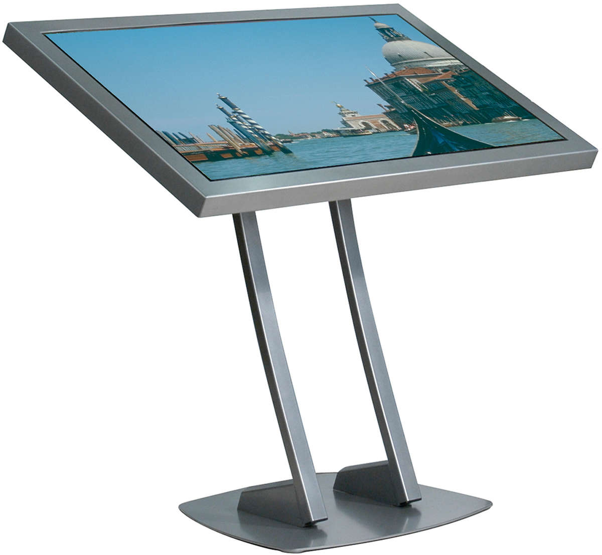 Unicol PA1 Parabella stand - designer low level lectern style for screens from 33 to 50 inches, Max. Load 60kg. product image