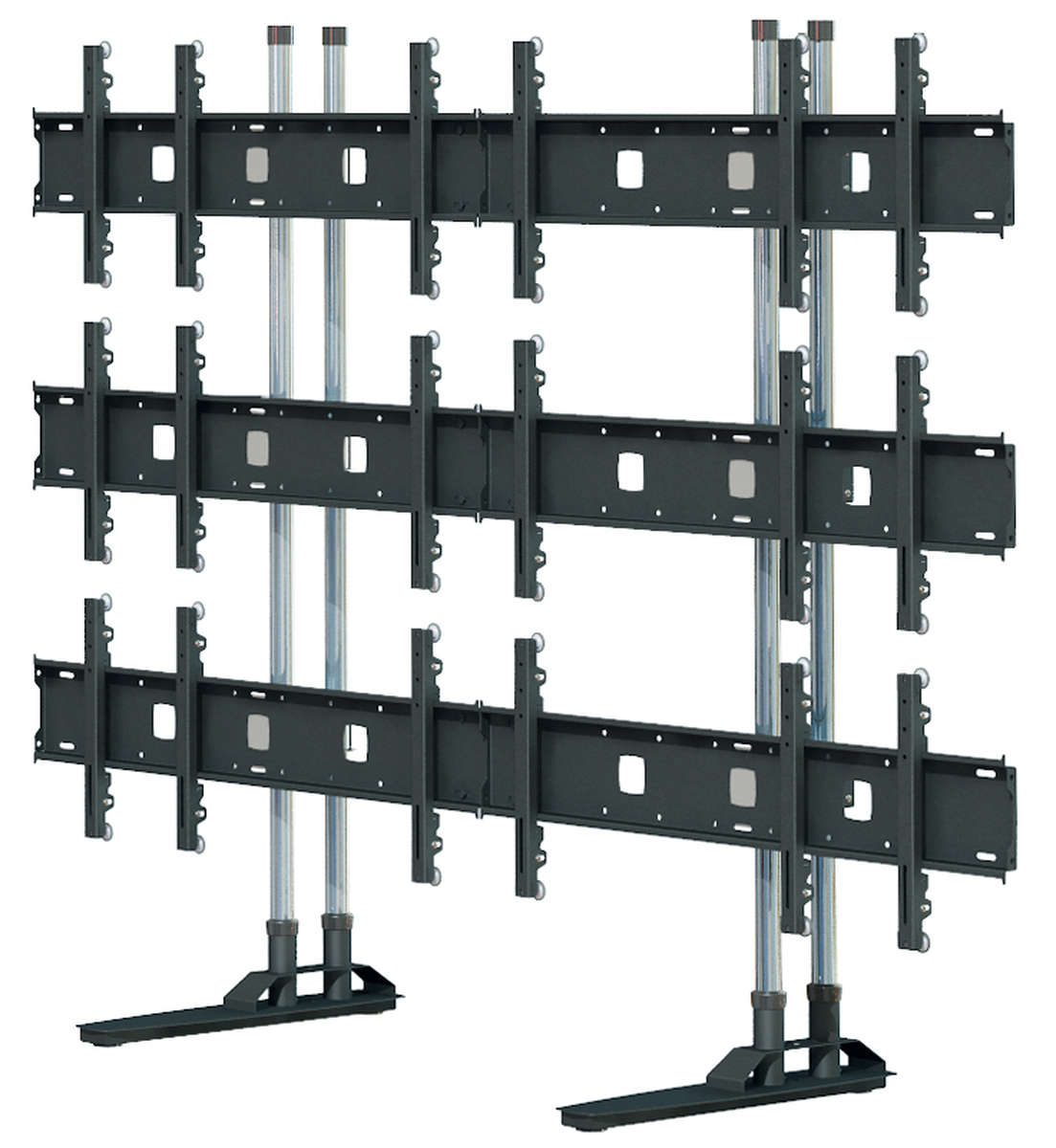 "Unicol SIM2 Simplex 3x3 Video wall floor stand for screens around 55"" product image"